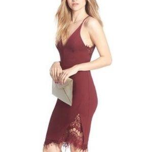 Nordstrom ASTR Burgundy Bodycon Dress